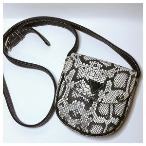 GUESS Snakeskin Print Mini Crossbody Bag